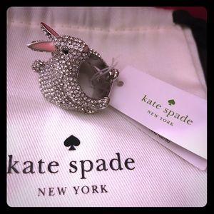 Kate Spade Bunny Bling Ring Size 7